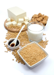 Soy foods: soy beans, tofu, TVP, temphe & soy sauce