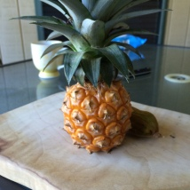 Home grown pineapple Sarah Luck
